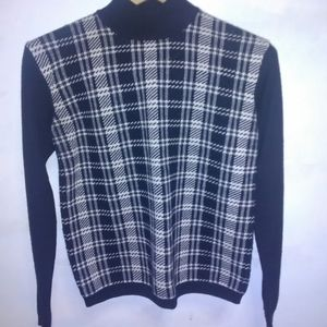 Black & White Wool sweater Chelsea Campbell Small